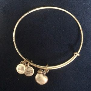 Alex and Ani apple bracelet
